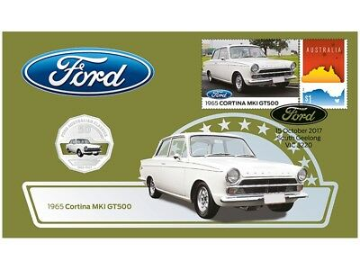 2017 Ford Australian 50c Coin - PNC Stamp & Coin Cover - Cortina MK1
