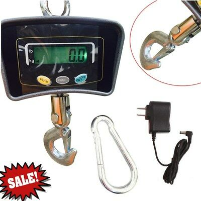 Digital Crane Scale 500 KG/1100 LBS Industrial Hook Hanging Weight Heavy Duty