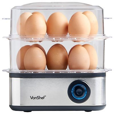 Multi- Functional Egg Boiler Removable Shelves Easy To Use Auto Switch Off 500W