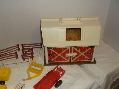 "1 RARE HTF VINTAGE COLLECTABLE FISHER-PRICE BARN no SILO ETC.., "" SOLD AS IS """