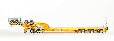 Drake ZT09178 AUSTRALIAN Drake 2x8 Dolly and 3x8 Swingwing Trailer Yellow 1:50