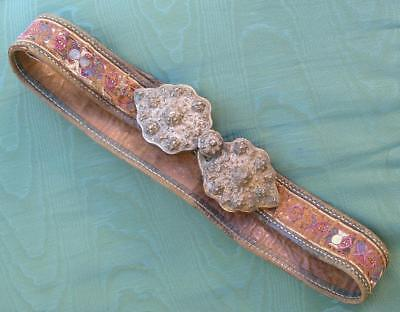 Antique Ottoman Empire  Ladies Folk  Silver Buckle And Belt