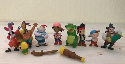 Disney Jake And The Never land Pirates Figure Play Set Toy Hook Peter Pan