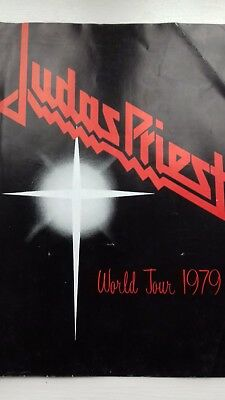 judas priest 1979 tour programme, Evening Star badge and band name small badge