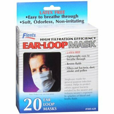 Flents Ear-Loop Masks - 20 Count (Pack Of 6)