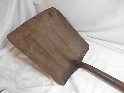 Old Vtg BULLDOG RAILROAD COAL SHOVEL Wood Handle Tool Railways Train Wall decor
