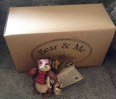 Colour Box Miniatures Bear & Me Wf008 Otter With Mouse Figure Ornament Gift