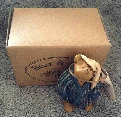 Colour Box Miniatures Bear & Me Ab018 Bear In Dressing Gown Figure Ornament Gift