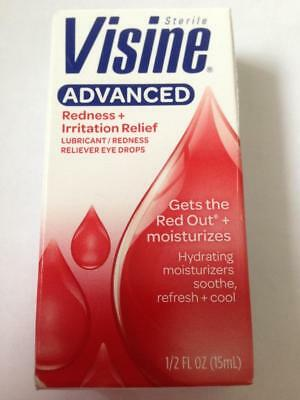 VISINE ADVANCED REDNESS IRRITATION RELIEF EYE DROPS 15ml 1/2 oz  FAST FREEPOST