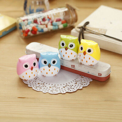 Sparkle 2 Pcs Cute Lovely Owl Pattern School Stationery Pencil Sharpener