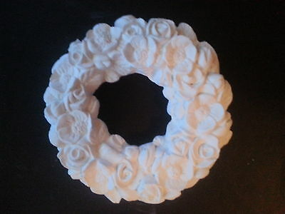 Decorative ring of roses flower ring table shelf ornament latex mould mold