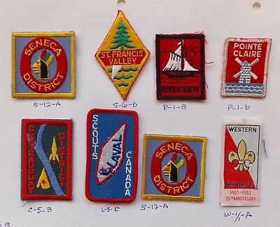 CANADA - 8 NICE VINTAGE SCOUT BADGES -  #24 + check out our site