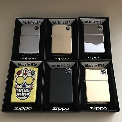 Lot Of Six ZIPPO Lighters New In Box