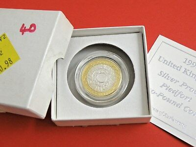 1998 SILVER PIEDFORT PROOF £2 TWO POUND COIN Standing on Shoulders of Giants £60