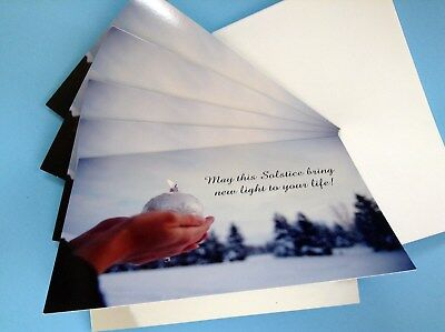 1 ONE CARD Winter Solstice Yule Card Wicca Pagan Humanist Festive Yuletide