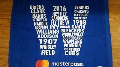 Chicago Cubs 2017 Playoffs W Rally Towel NLCS SGA