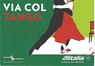 ALITALIA promotional card for Verona Aeroporto postcard size,MINT.
