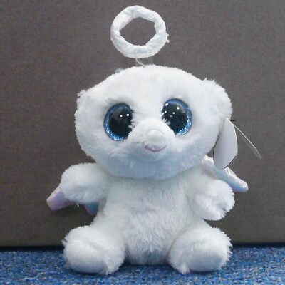 "Ty Beanie Boos 6"" Halo White Stuffed Plush Toy Soft Animals Toy Girls&Boys Doll"