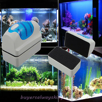 New Magnetic Clean Brush Aquarium Fish Glass Tank Algae Cleaner Scrubber Float