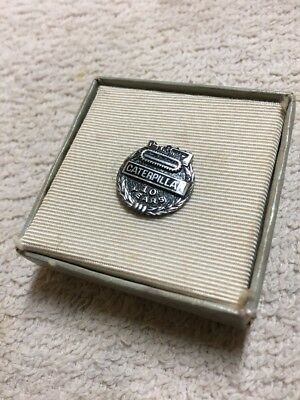 Original Caterpillar Tractor Employee 10 Year Pin Tie Tack Sterling