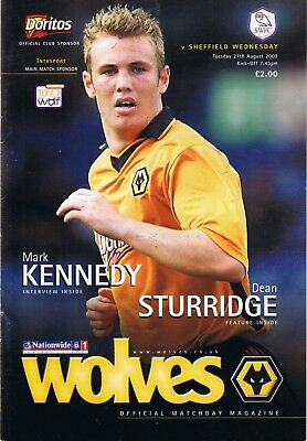 Wolverhampton  V Sheffield Wednesday 1St Div 27/8/2002