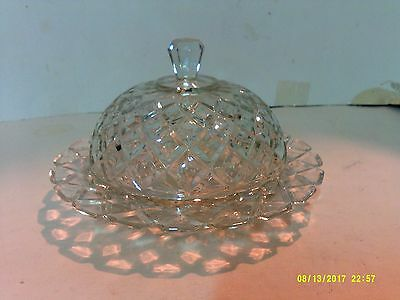 Anchor Hocking Waterford Waffle Depression Butter Dish