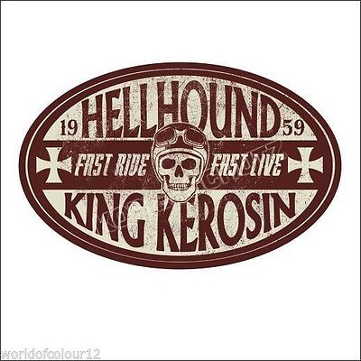 King Kerosin Kick Ass Aufkleber//Sticker//Oldschool//Rockabella//Rockabilly//Bobber
