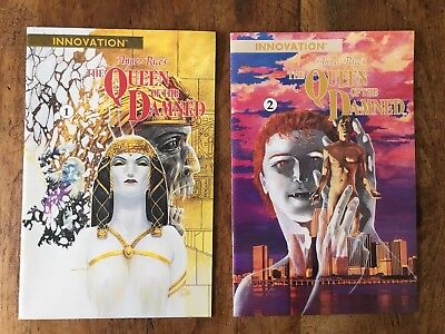 Anne Rice's Queen of the Damned #1 #2 1991 Innovation comic graphic novel