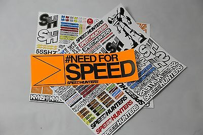 Speedhunters *bundle 20* Rc Double Sticker Pack + Bumper* Official Merchandise