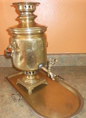 Authentic Antique Large Russian Brass  Samovar from Batashev factory