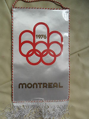 Wimpel pennant Olympia-Fußball  Montreal 1976 Polen