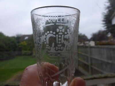 Victorian Drinking Etched wording 1837 - 1897