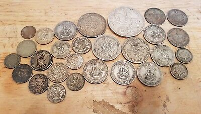 Collection of  pre 1947 mainly English silver coins