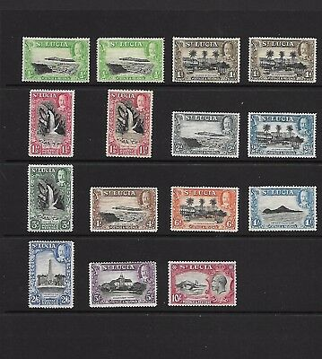 St Lucia King George V 1936 Issue Sg 113 To Sg 124 Inc Perfs Mounted Mint