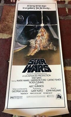 Vintage Star Wars Style A Poster 1977 NM-NSS 7721 20th Cent Fox 14x36 READ DESC