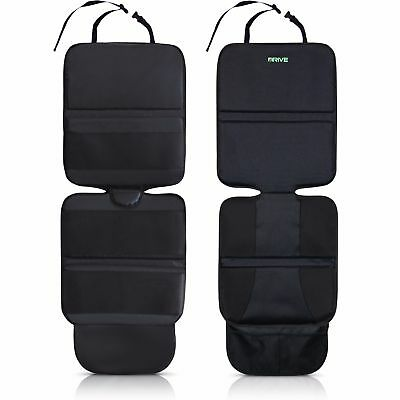 Car Seat Protector (2-Pack, Black) by Drive Auto Products - Best Child Seat Pad
