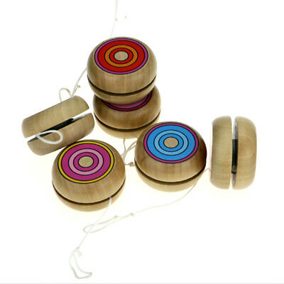 Wooden YOYO kids classic toys xmas gifts party favors kindergarten JE