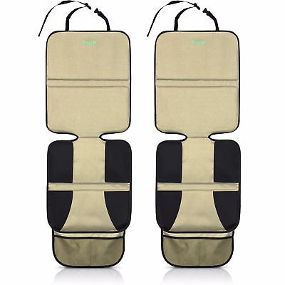 Car Seat Protector (2-Pack, Tan) by Drive Auto Products - Best Child Seat Pad