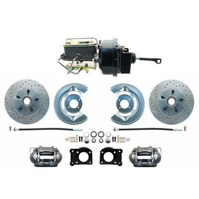 Mustang Front Power Disc Brake Conversion Kit With Power Master Cylinder And Dri