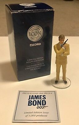 Limited Edition Rare Roger Moore James Bond Corgi Toy Figure Collectible