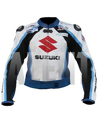 Suzuki Motorbike Racing Leather Jacket