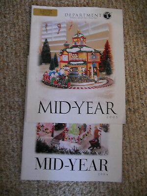 3- Dept 56 Catalogs Brochures VILLAGE MID-YEAR 2005, (2)-2004 Issue- FREE-SHIP
