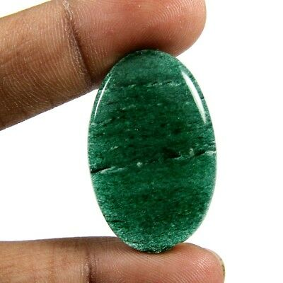 31.60ct Marvelous Quality Natural Green Aventurine Cabochon Oval Loose Gemstone