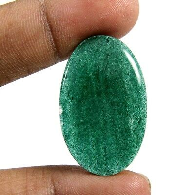 25.75ct Marvelous Quality Natural Green Aventurine Cabochon Oval Loose Gemstone