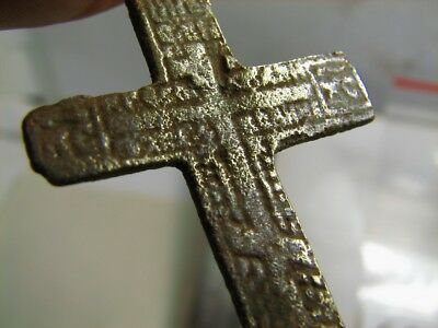 Rare !  Big ! Nice Late Medieval Period Church Bronze Cross ! #6830