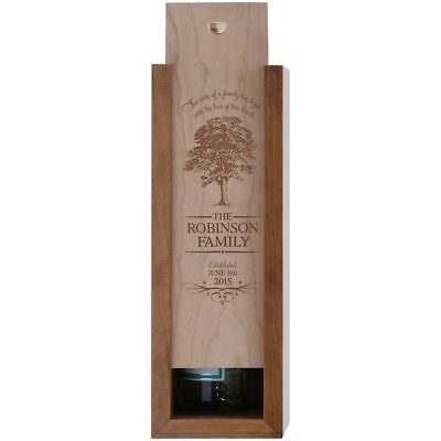 Wooden Wine Box Single Bottle Slot Personalized Wood Storage Case