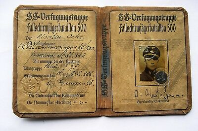 German The 500th Parachute Battalion member's ID document