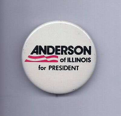 """""""Anderson of Illinois for President"""" Pinback    1980  John Anderson"""
