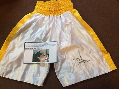 Dave Courtney Signed Boxing Shorts. London Gangster Kray Twins Underworld
