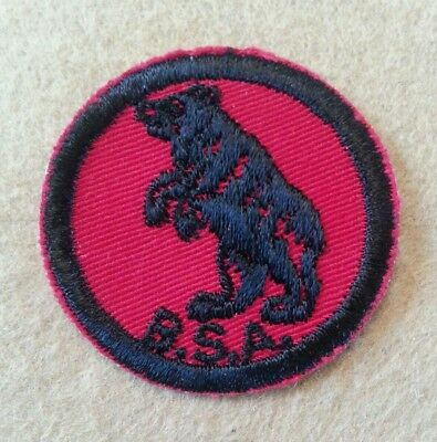 Vintage Twill Boy Scout Red & Black  Patrol Patch - Bear - Excellent   B00169A